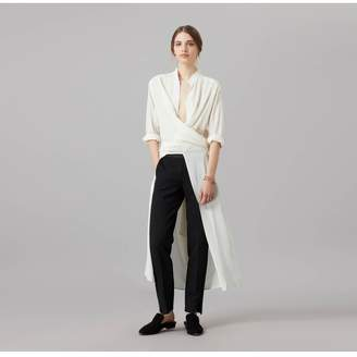 Amanda Wakeley Air White Tie Wrap Top