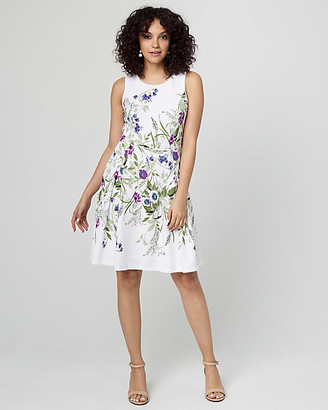 Le Château Floral Print Fit & Flare Knit Dress