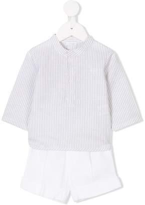 Il Gufo striped shirt and shorts set