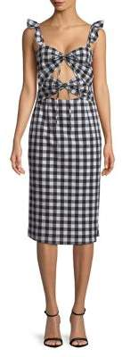 WAYF Gingham Sheath Dress
