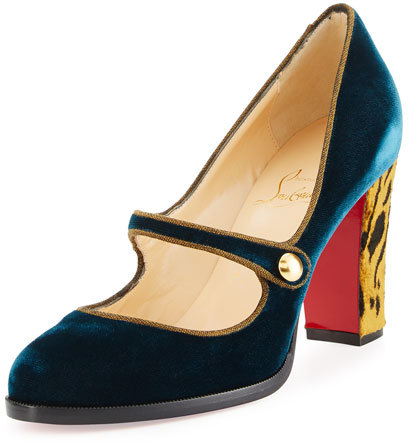 Christian Louboutin  Christian Louboutin Top Street Red Sole Mary Jane Pump, Lagune
