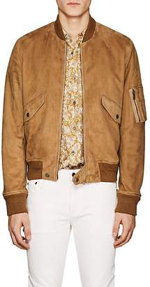 Saint Laurent Men's Suede Classic Bomber Jacket