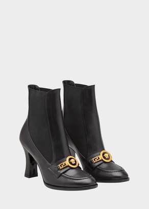 Versace High Heel Icon Loafer Boots