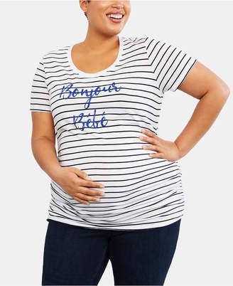 Motherhood Maternity Plus Size Bonjour Bebe Maternity Graphic Tee