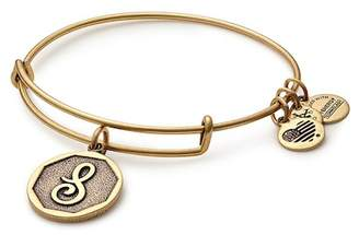 Alex and Ani Initial 'S' Charm Expandable Wire Bracelet