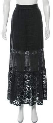 Calypso Crocheted Linen Maxi Skirt