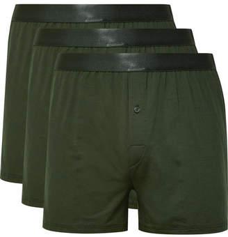 CDLP Three-Pack Stretch-Lyocell Boxer Shorts