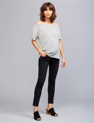 AG Jeans Secret Fit Belly Destructed Legging Ankle Maternity Jeans
