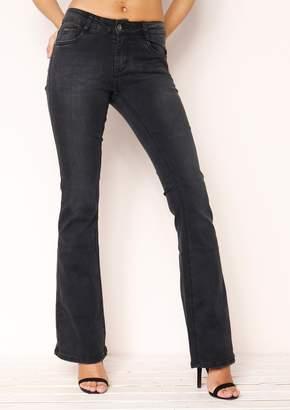 06b2ca6149 Missy Empire Missyempire Tianna Black Wash Skinny Flare Jeans