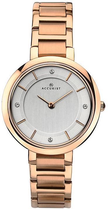 Accurist Ladies' Rose Gold Plated Bracelet Watch