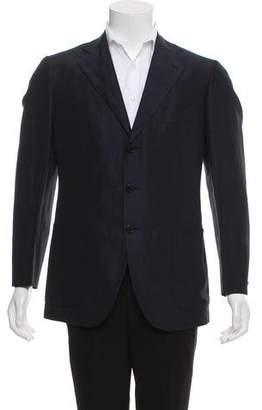 Cesare Attolini Woven Three-Button Blazer