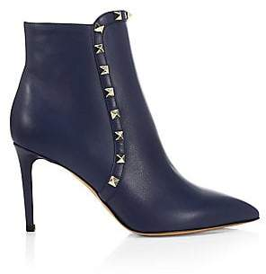 Valentino Women's Rockstud Leather Ankle Booties