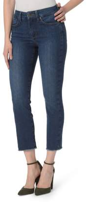 NYDJ Sheri Frayed Hem Slim Ankle Jeans
