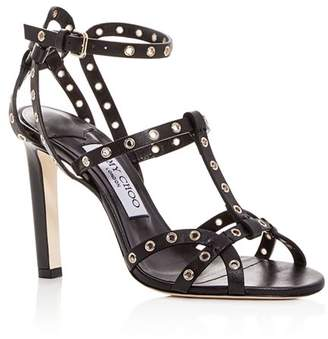 Jimmy Choo Women's Beverly 100 Leather High-Heel Sandals