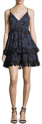 KENDALL + KYLIE Tiered Lace Babydoll Dress
