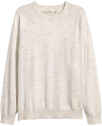 H&M Fine-knit Cotton Sweater - White