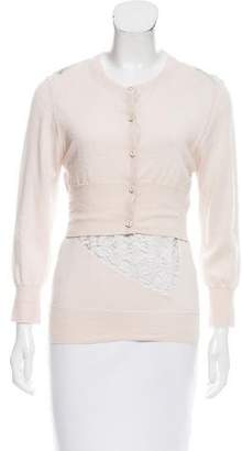 Nina Ricci Layered Cashmere & Silk Cardigan