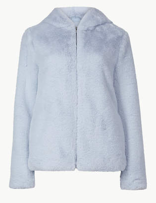 M&S CollectionMarks and Spencer Hooded Faux Fur Jacket