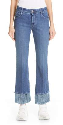 Stella McCartney Fringe Hem Kick Flare Jeans