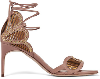 Brian Atwood Gabriela eyelet-embellished leather sandals $975 thestylecure.com