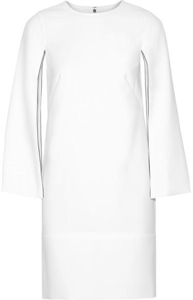 DKNY - Cape-effect Stretch-crepe Dress - White