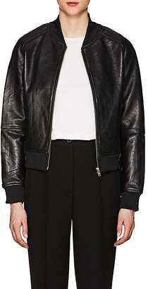William Rast WOMEN'S LEATHER BOMBER JACKET