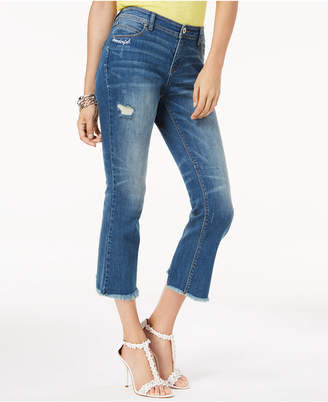 "INC International Concepts I.n.c. ""Wonderful"" Embroidered Ripped Ankle Jeans, Created for Macy's"