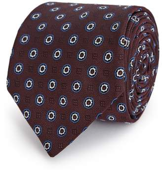 Reiss Trippier - Patterned Tie in Bordeaux