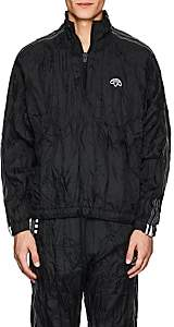 adidas by Alexander Wang Men's Crinkled Tech-Fabric Pullover Jacket-Black