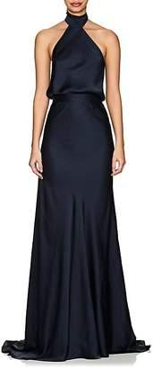 Juan Carlos Obando Women's Satin Halter Gown