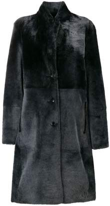 Joseph single-breasted fur coat