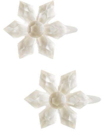 Snowflake Hair Clip Two-Pack