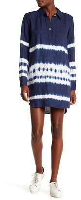 Allen Allen Tie-Dye Linen Shirt Dress