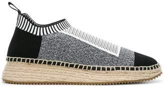 Alexander Wang Dylan low combo knit sneakers