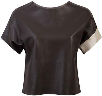 Claire Andrew - Leather Graphite Tee
