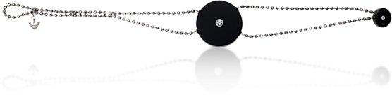 Onyx disc bracelet