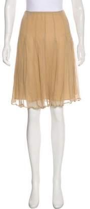 Burberry Silk Knee-Length Skirt