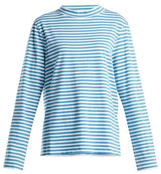 MiH Jeans Emelie Striped Cotton Top - Womens - Blue Stripe
