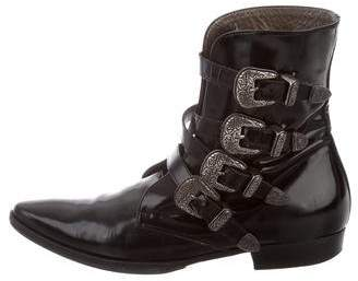 Etro Buckle-Accented Ankle Boots
