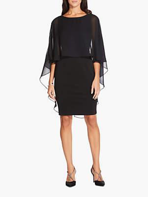 Adrianna Papell Daphne Ottoman Dress, Black
