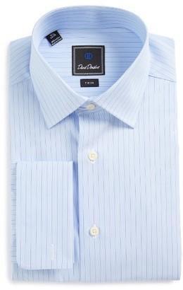 Men's David Donahue Trim Fit Stripe Dress Shirt $135 thestylecure.com
