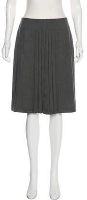 Akris Pleated Knee-Length Skirt