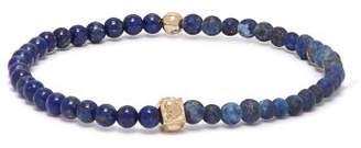 Luis Morais Skull Charm Beaded Bracelet - Mens - Blue