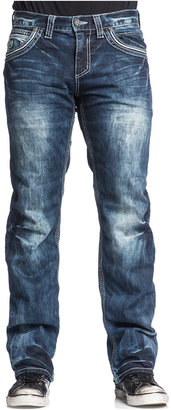 Affliction Men's Blake Fleur De Lis Relaxed-Fit Jeans, Valdez Wash $99 thestylecure.com