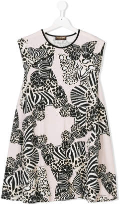 Roberto Cavalli multi animal print dress