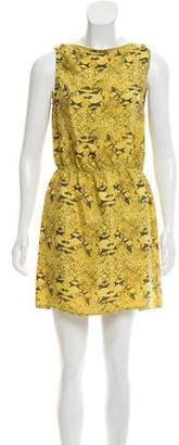 Haute Hippie Animal Print Silk Dress