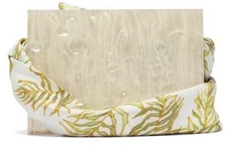 Montunas Guaria Orchid Print Box Bag - Womens - White Multi