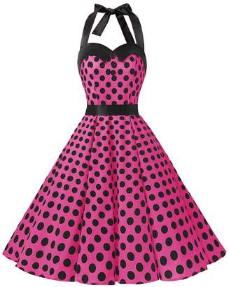 Dressystar Vintage Polka Dot Retro Cocktail Prom Dresses 50's 64's Rockabilly Bandage XL