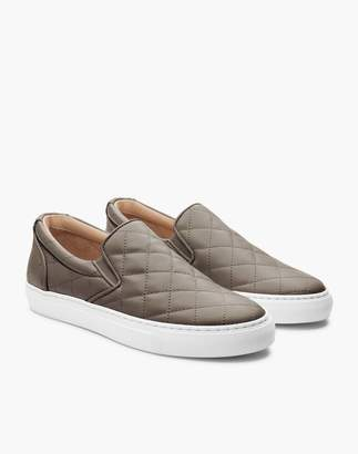 Madewell GREATS Wooster Quilted Leather Slip-On Sneakers