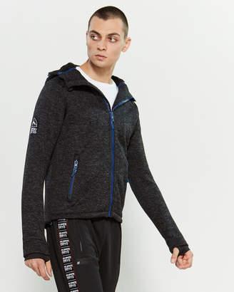 Superdry Black Granite Zip Sweater Hoodie